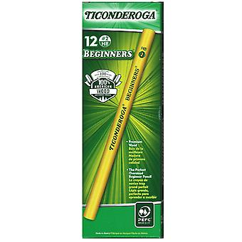 Ticonderoga Beginners Pencils Without Eraser, 12/Pkg