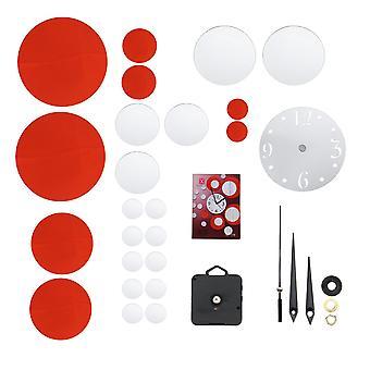 Creatieve diy 3d spiegel wand acryl klok sticker uniek groot aantal moderne decoraties