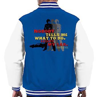 Knight Rider Nobody me dice qué hacer excepto mi coche hombres's chaqueta varsity