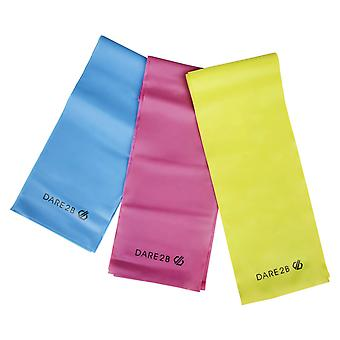 dare 2b resistance bands set with 3 resistance levels light to heavy exercise