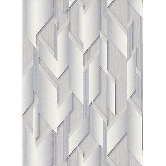 Erismann Silver Geometric Glitter Wallpaper