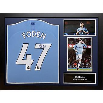 Manchester City Foden Signed Shirt (Framed)