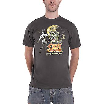 Ozzy Osbourne T Shirt Ultimate Remix Logo new Official Mens Charcoal Grey