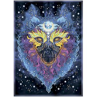 VDV Free Form Bead Embroidery Kit - She-Wolf-Guardian