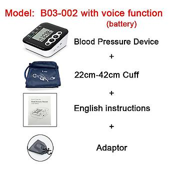 Zd household portable sphygmomanometer ; voice broadcast lcd digital ;arm band type blood pressure monitor