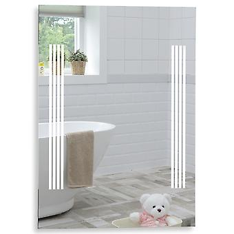 MOOD Rectangular Bathroom Mirror 80cm x 60cm Illuminated