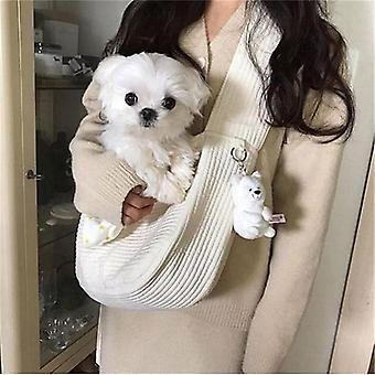 Handmade Pet Dog Carrier Outdoor Travel Handbag