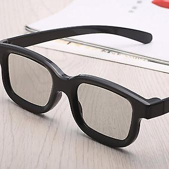 Passive Circular 3d Polarized Movie Glasses, Unisex, Abs Frame, Stereo Not