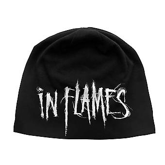 In Flames Beanie Hat Band Logo new Official Black Unisex Jersey Print