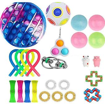 Sensory Fidget Toys Set 26 Pack Stress Relief And Anti-anxiety Hand Toys For Kids And Adults Calming Toys