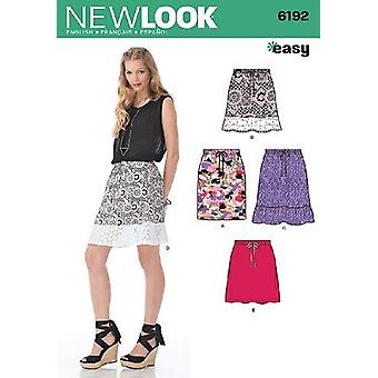 New Look Sewing Pattern 6192 Misses'Skirt Three Lengths Sizes 10-22 A