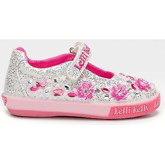 Lelli Kelly LK7074 Florence Silver Glitter Canvas Shhoes