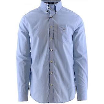 GANT Blue Long-Sleeved Broadcloth Shirt
