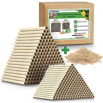 FengChun ! NEU! Papprhrchen fr Insektenhotel - kologische Nisthilfe fr Wildbienen inkl. gratis Lehm -