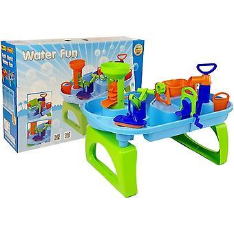 Wasserspieltisch blau und grün – Wassertisch