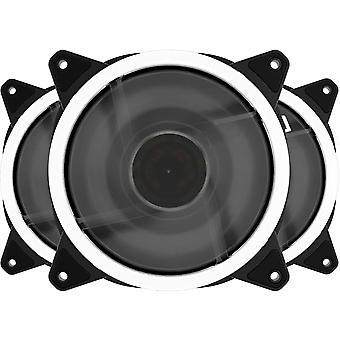 Wokex 120 mm weißer LED-Gehäuselüfter für Computergehäuse, CPU-Kühler und Heizkörper, ultra leise,