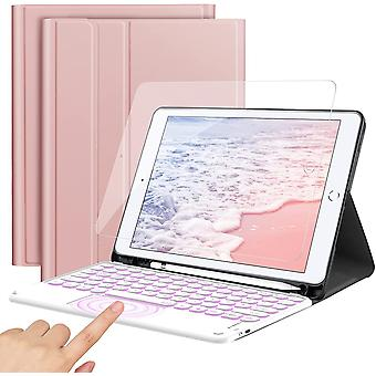 FengChun Tastatur für iPad 10.2, QWERTZ Beleuchtete Tastatur Hülle für iPad 8./7. Generation (iPad
