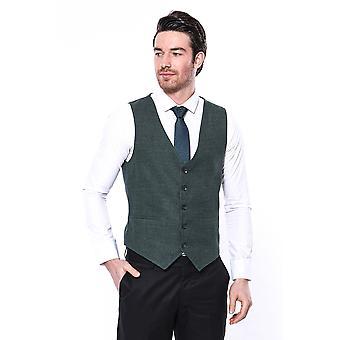 Green v neck vest   wessi