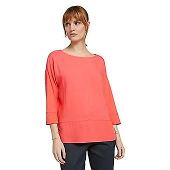 Tom Tailor 1024006 Fabric Mix T-Shirt, 26200-Strong Peach Tone, XL Women