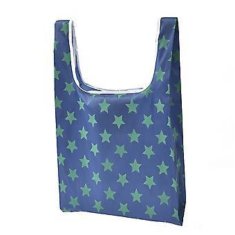 Портативный Торговый мешок складной 190t Оксфорд Ткань Печать Звездный бытовой продуктовый мешок