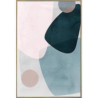 JUNIQE Print -  Graphic 150 A - Abstrakt & Geometrisch Poster in Blau & Grau