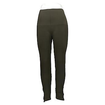 Spanx Plus Leggings Seamless Side Zip Green A297851