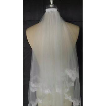 Voile nuptial court avec peigne, accessoire de voile de mariage