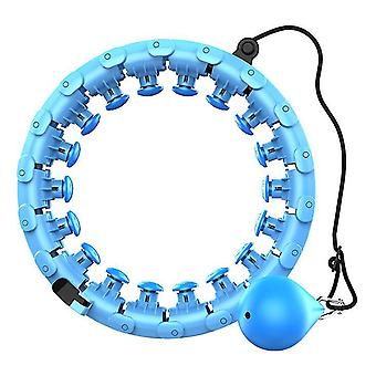 Blue smart fitness hula hoop, removable with detachable,adjustable auto-spinning hula ring az8343