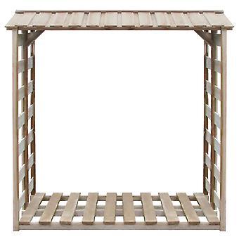 vidaXL Capannone di stoccaggio legna da ardere 150x90x176 cm Legno di pino impregnato