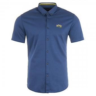 Boss Green Hugo Boss Biadia_R Short Sleeve Shirt Blue 410 50449241