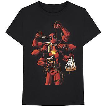 Marvel Comics - Deadpool Arms Heren Groot T-Shirt - Zwart