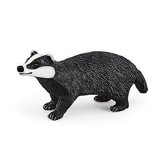 Schleich Wild Life mäyrä leluhahmo - musta/valkoinen