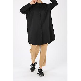 Botones ocultos de talla grande Túnica de camisa