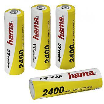 Hama Ready4Power NiMH Baterías Recargables 4x AA (Mignon - HR 6) 2400 mAh