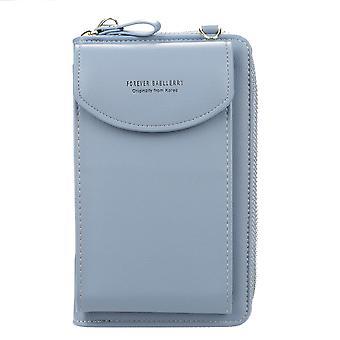 Женская диагональная сумка для мобильного телефона на одно плечо, длинный кошелек для монет, женский кошелек