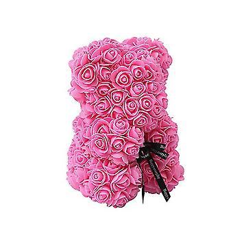 Valentinstag Geschenk 25 cm Rose Bär Geburtstagsgeschenk£¬ Memory Day Geschenk Teddybär (Pink)