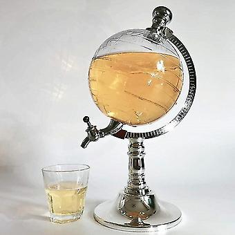 Drink Draft Beer Dispenser 1.5L/3L Earth-Shaped Liquor Beverage Pourer for Bar Club Party Use Bar