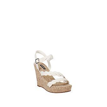 Nine West | Bone Brette Cork Wedge Sandals