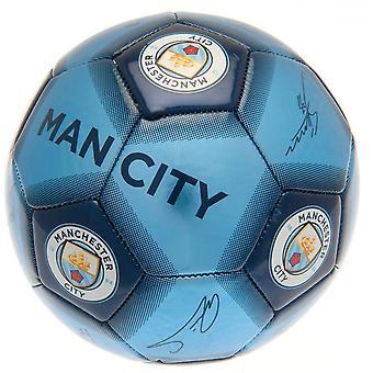 Manchester City FC Blue Football Signature