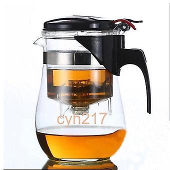 Tetera de vidrio resistente al calor de alta calidad, taza de té conveniente de la oficina|set Oficina (750ML)