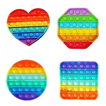Lohill New Push Pop It Bubble Sensorial Fidget Juguete Alivio del Estrés Necesidades Especiales Autismo