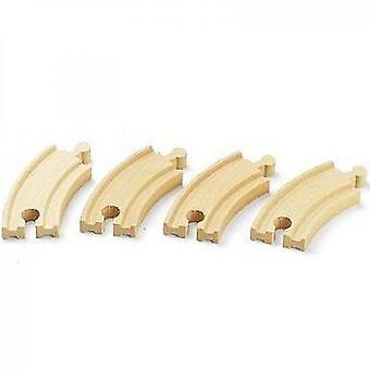Brio World - 33337 - Piccole rotaie curve - 90 Mm - Giocattolo in legno