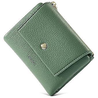Zipper coin purse Multi-card PU wallet(Green)