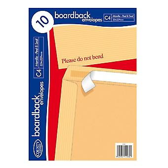 County Stationery C4 Board Back Envelope (Pack of 10)