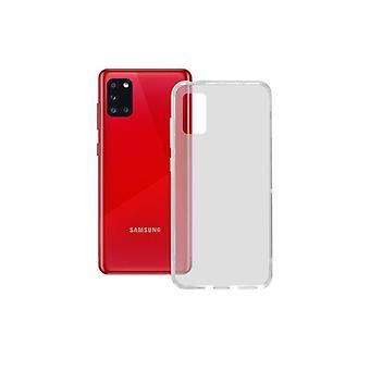 Mobiilikotelo Samsung Galaxy A21S Ota yhteyttä TPU Läpinäkyvä