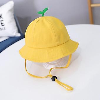 Schattige kleine gras baby hoed herfst winter lam wol jongens emmer hoed effen kleur kinderen baby peuter zonnekap