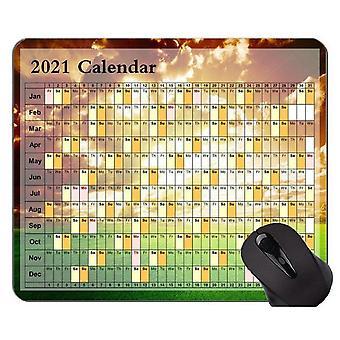 (300X250X3) Kalender 2021 Jahr Mauspad, Sunset Grassland Thema Gaming Mousepad