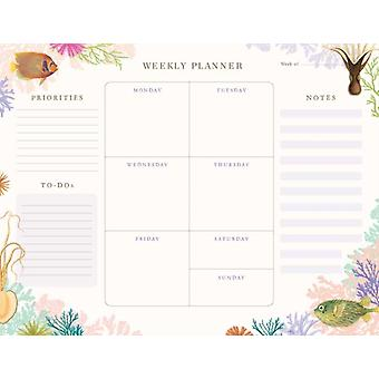 Art of Nature Under the Sea Weekly Planner Notepad by Insight Editions