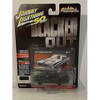 1971 Dodge Demon 340 Black 1:64 Johnny Lightning JLSF014A