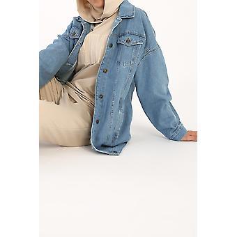 Comfy Pockets Denim Jacket